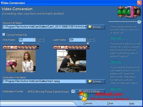 צילום מסך Active WebCam Windows 10