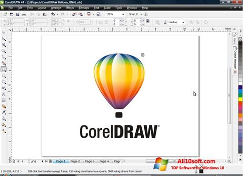 צילום מסך CorelDRAW Windows 10