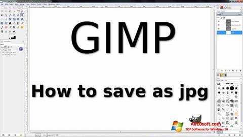 צילום מסך GIMP Windows 10