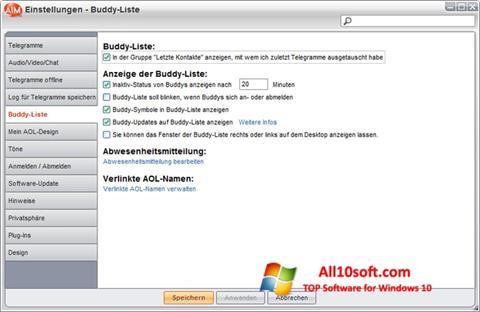 צילום מסך AOL Instant Messenger Windows 10