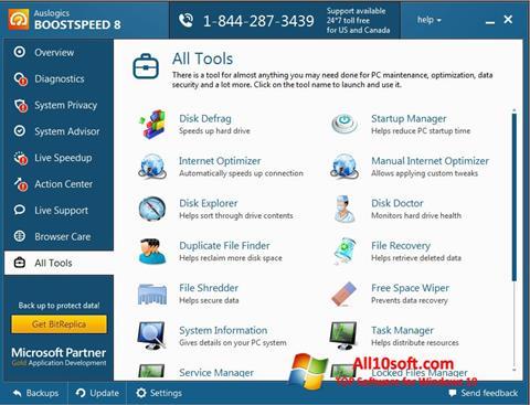 צילום מסך Auslogics BoostSpeed Windows 10