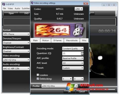 צילום מסך XviD4PSP Windows 10