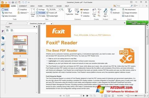 צילום מסך Foxit Reader Windows 10
