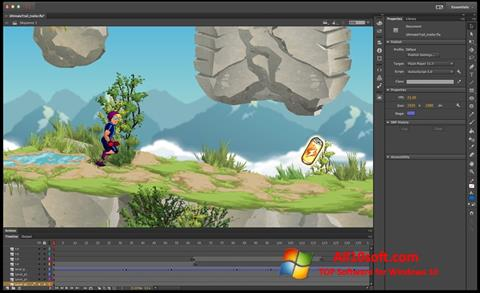 צילום מסך Adobe Flash Professional Windows 10