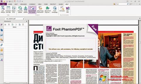 צילום מסך Foxit Phantom Windows 10