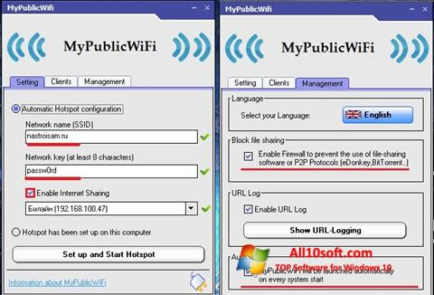 צילום מסך MyPublicWiFi Windows 10