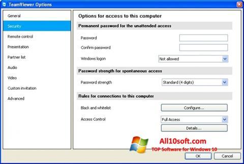 צילום מסך TeamViewer Windows 10