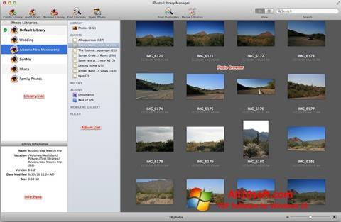 צילום מסך iPhoto Windows 10