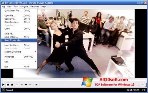 צילום מסך Media Player Classic Windows 10