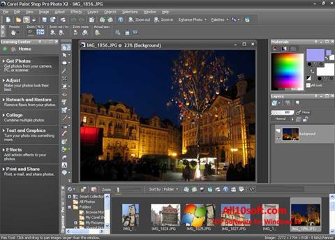 צילום מסך PaintShop Pro Windows 10