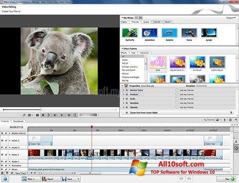 צילום מסך Nero Vision Windows 10