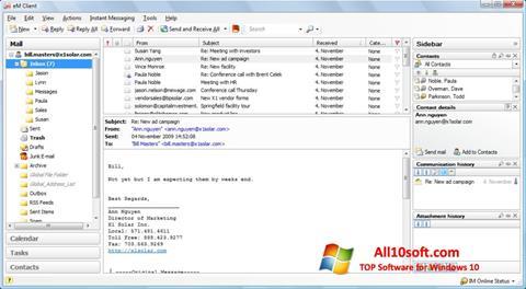 צילום מסך eM Client Windows 10