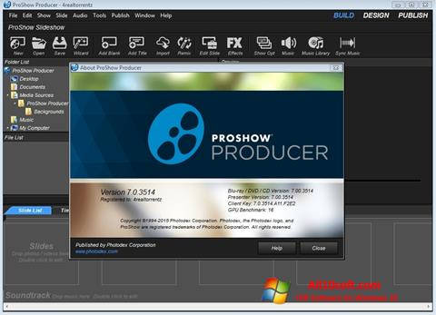 צילום מסך ProShow Producer Windows 10