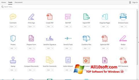 צילום מסך Adobe Acrobat Pro Windows 10