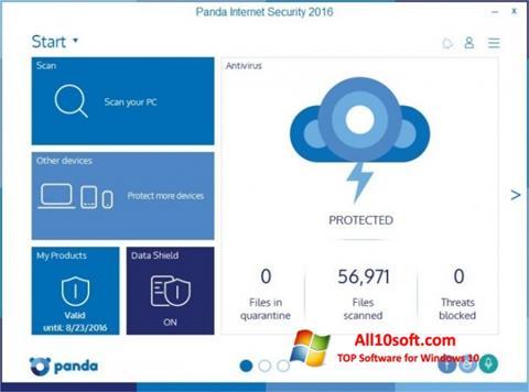 צילום מסך Panda Internet Security Windows 10