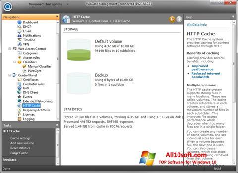 צילום מסך WinGate Windows 10