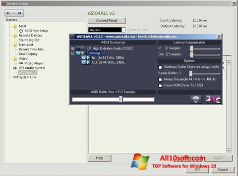 צילום מסך ASIO4ALL Windows 10