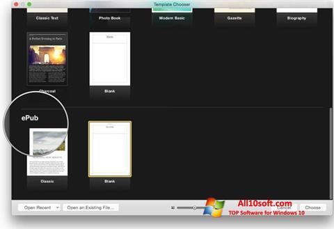 צילום מסך iBooks Windows 10