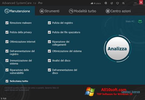 צילום מסך Advanced SystemCare Pro Windows 10