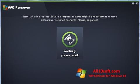 צילום מסך AVG Remover Windows 10
