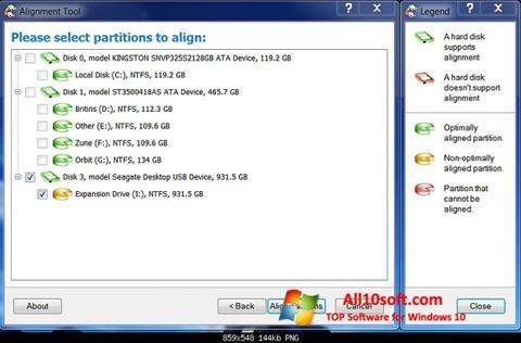 צילום מסך Paragon Alignment Tool Windows 10