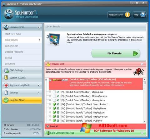 צילום מסך SpyHunter Windows 10