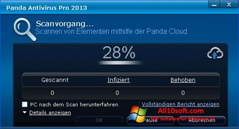 צילום מסך Panda Antivirus Pro Windows 10