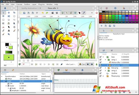 צילום מסך Synfig Studio Windows 10
