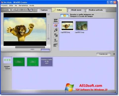 צילום מסך WinDVD Creator Windows 10