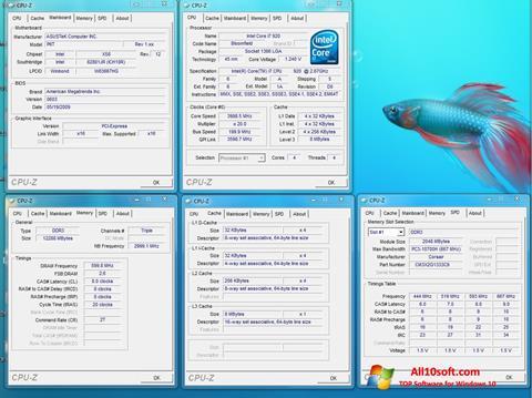 צילום מסך CPU-Z Windows 10