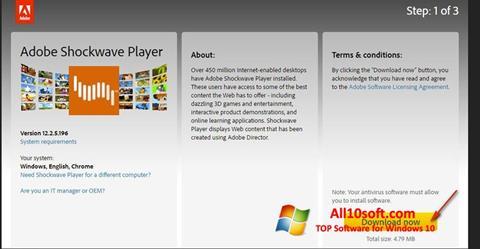 צילום מסך Adobe Shockwave Player Windows 10