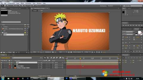 צילום מסך Adobe After Effects Windows 10
