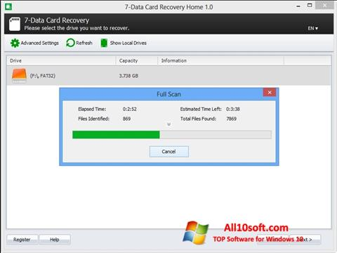 צילום מסך CardRecovery Windows 10
