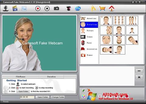 צילום מסך Fake Webcam Windows 10