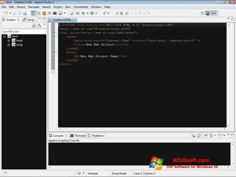 צילום מסך Aptana Studio Windows 10