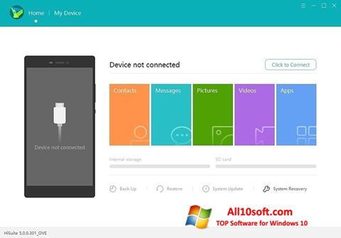 צילום מסך Huawei HiSuite Windows 10