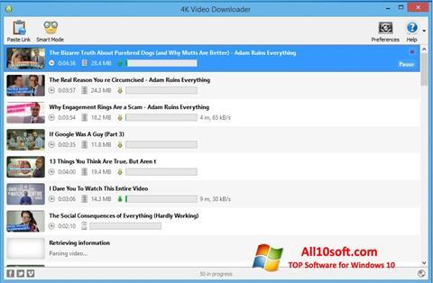 צילום מסך 4K Video Downloader Windows 10
