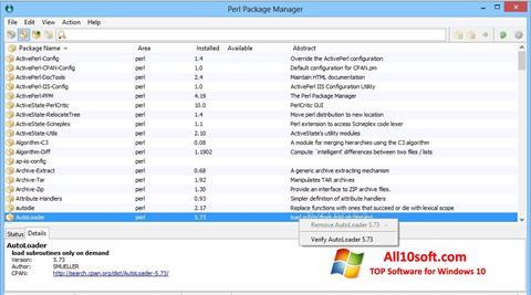 צילום מסך ActivePerl Windows 10