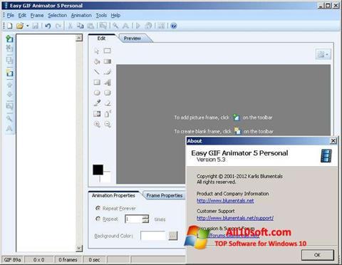 צילום מסך Easy GIF Animator Windows 10