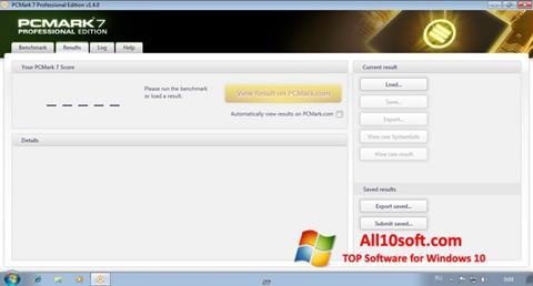 צילום מסך PCMark Windows 10