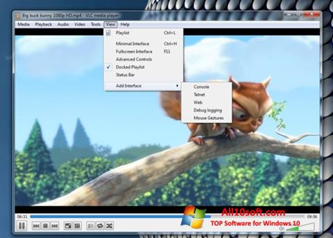 צילום מסך VLC Media Player Windows 10