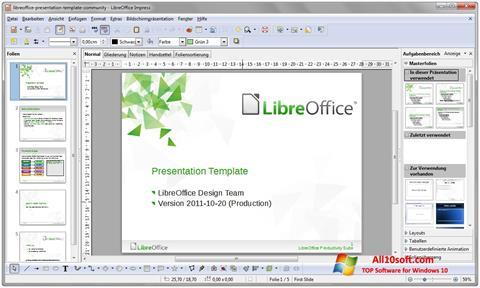 צילום מסך LibreOffice Windows 10