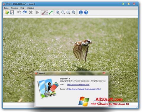 צילום מסך Inpaint Windows 10