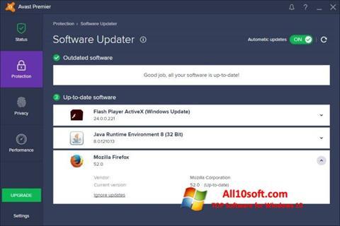 צילום מסך Avast Premier Windows 10