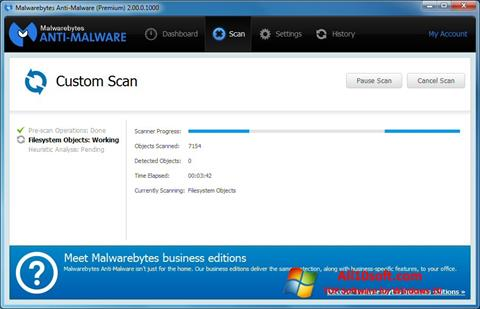 צילום מסך Malwarebytes Anti-Malware Free Windows 10