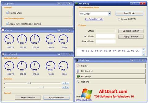 צילום מסך ClockGen Windows 10