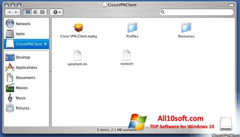 צילום מסך Cisco VPN Client Windows 10