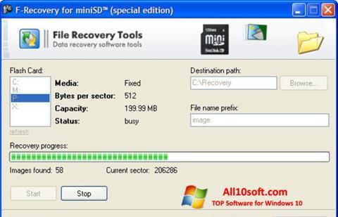 צילום מסך F-Recovery SD Windows 10