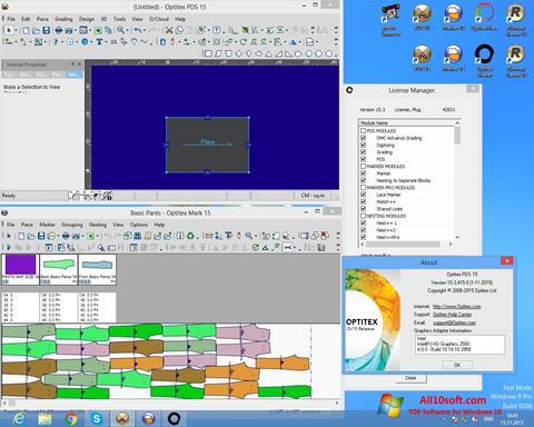 צילום מסך OptiTex Windows 10
