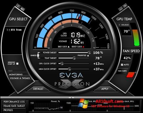 צילום מסך EVGA Precision X Windows 10